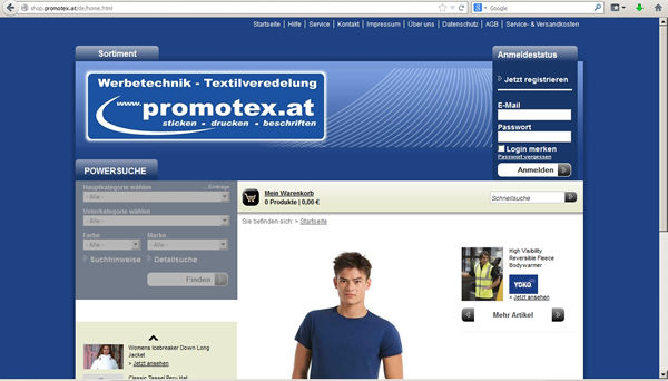 Promotex Onlineshop